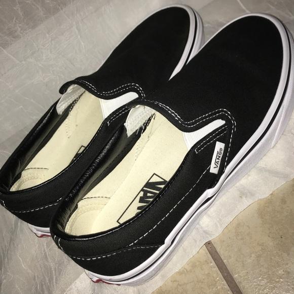 Vans Shoes | Slipon Black Size 7 | Poshmark